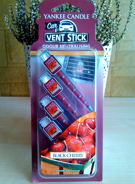 Yankee Candle, Car Vent Sticks, Black Cherry