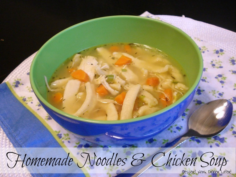 how to make homemade noodles for chicken noodle soup