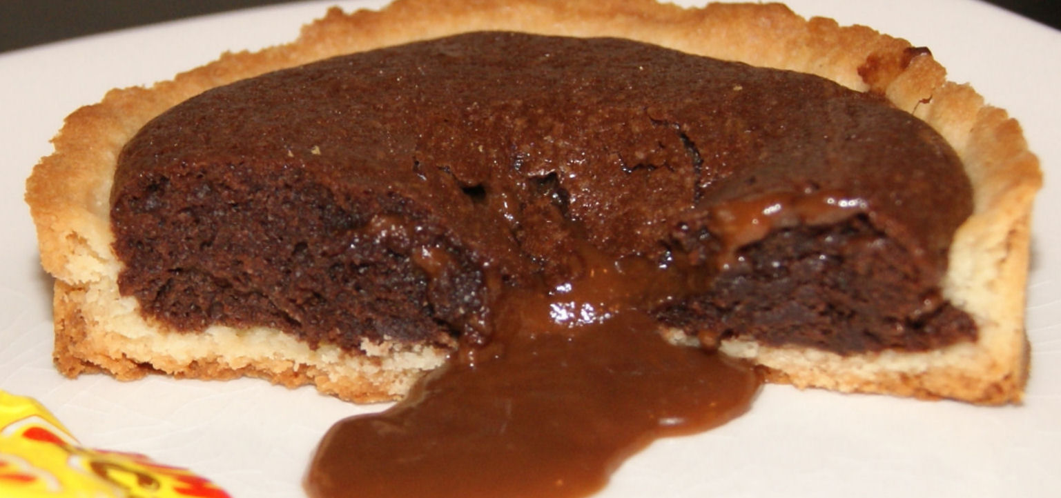 recreations tarte moelleux chocolat coeur carambar. Black Bedroom Furniture Sets. Home Design Ideas