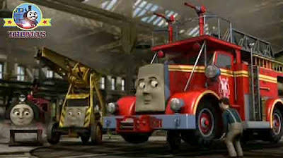 Thomas train Victor and Kevin the crane Thomas the tank and friends Flynn the red fire truck engine