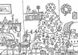 Christmas Images for Coloring, part 5