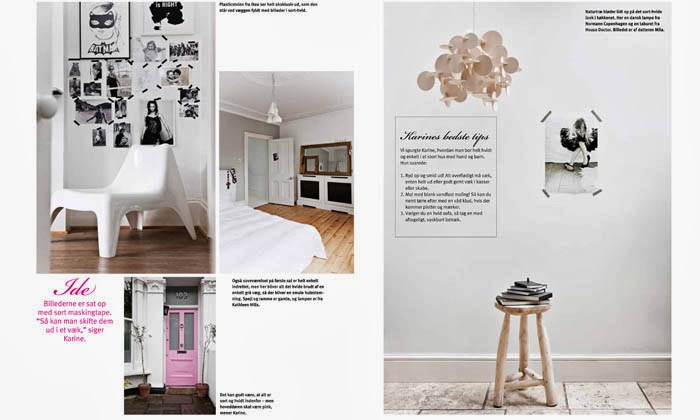 Karine Kong's home, Founder of BODIE and FOU in BOLIG LIV magazine