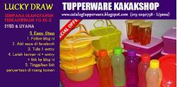 Tupperware Kakakshop nak bagi Tupperware Percuma