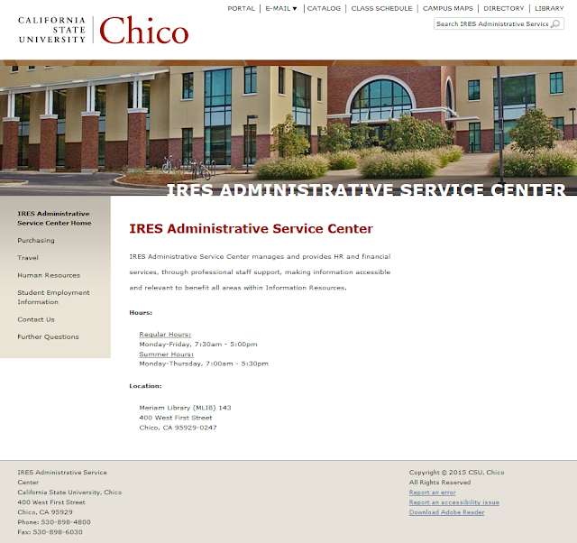 Screenshot of IASC home page