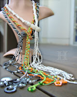Steps in Making Bead Crochet Lariat Necklaces