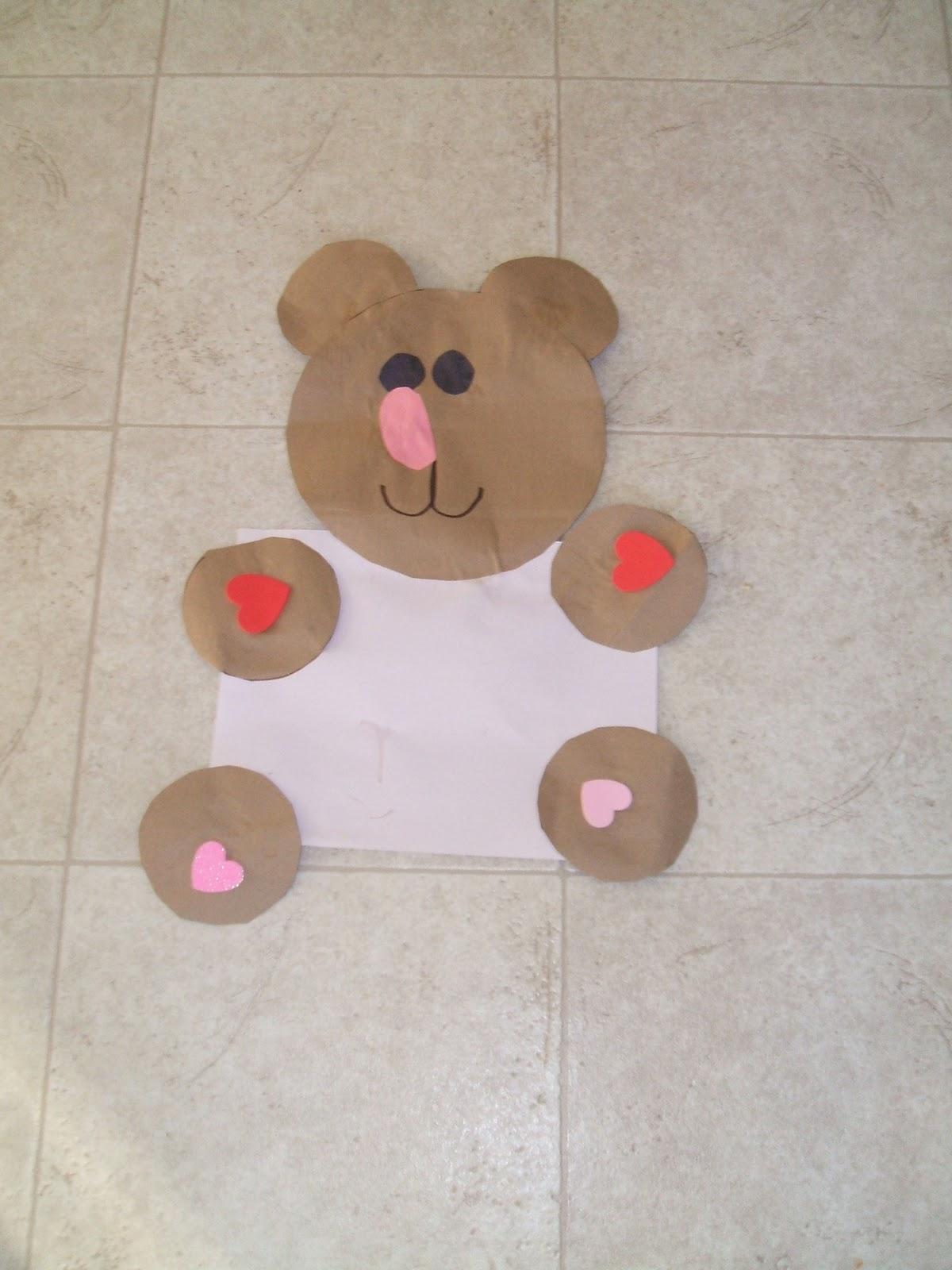 Мишка из картона своими руками