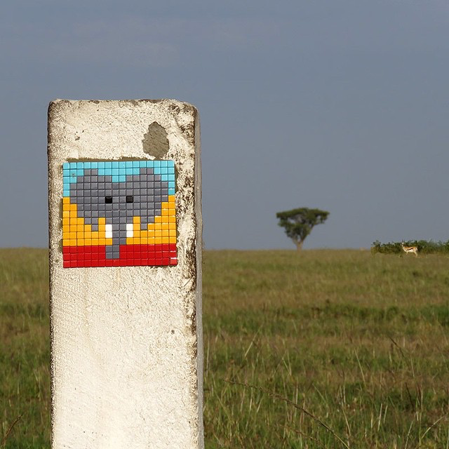 Invader is now in Africa where they just landed in Tanzania to work on an unknown project alongside with Vhils.