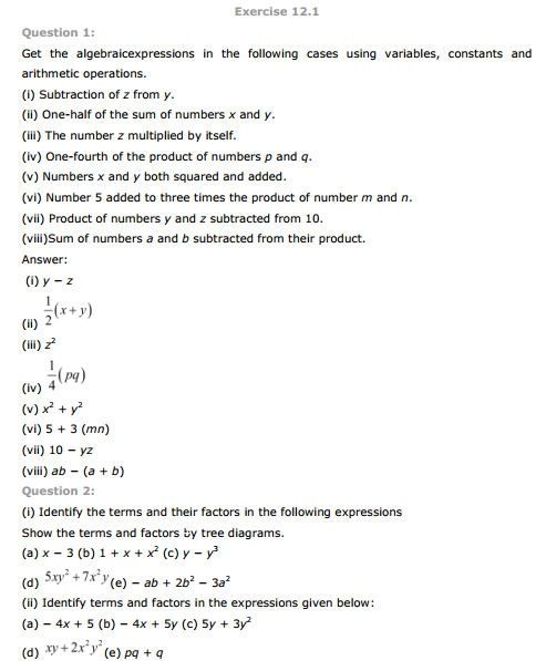 class 10 ncert maths exercise 12 2 solutions
