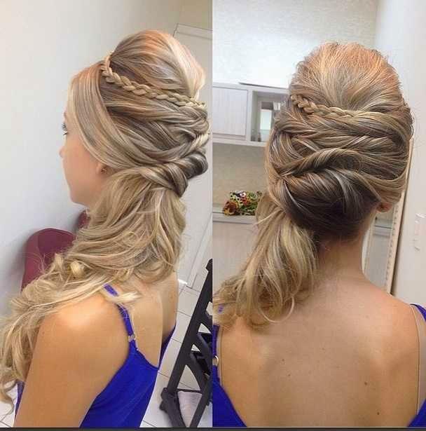 penteados semi presos para madrinhas de casamento com tranças
