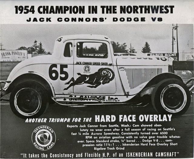 Northwest Auto Racing, 1950s: Jack Conner, 1954 Northwest