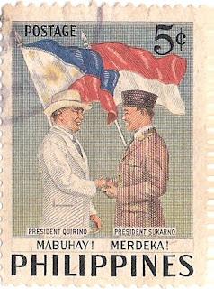 Perangko Philipina yang ada gambar Soekarno
