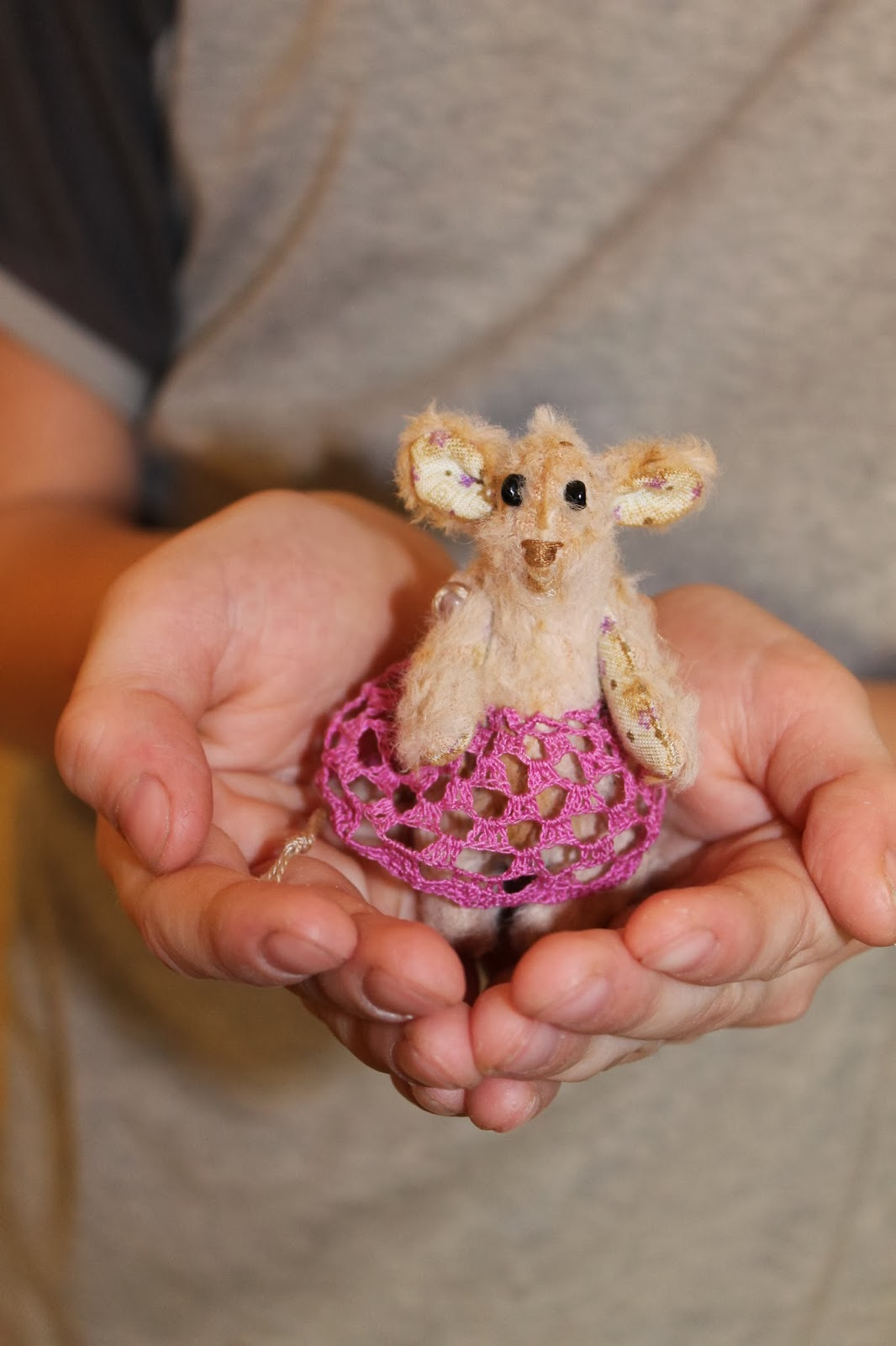 мини - Мышка в стиле тедди