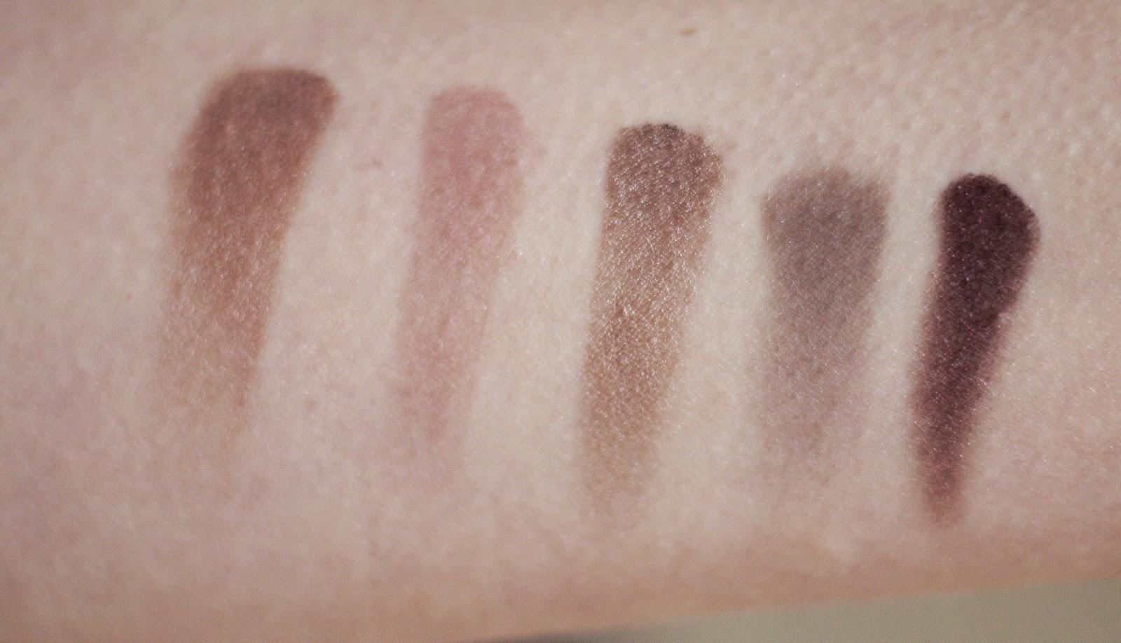 swatches l'oréal la palette nude