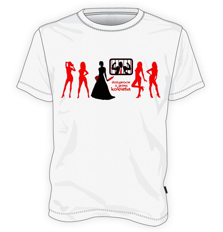 koszulka Dożywocie z jedną kobietą