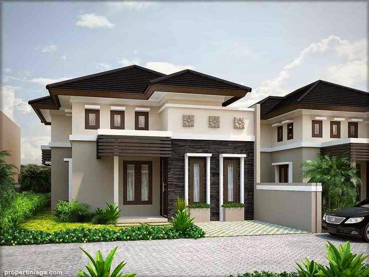 kombinasi warna cat rumah eksterior tampak depan