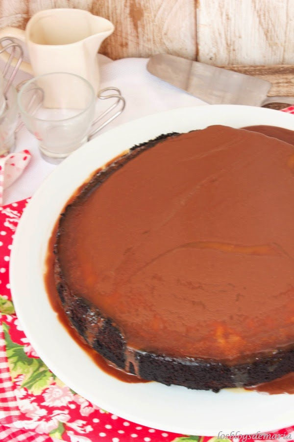 Tarta de queso al caramelo y chocolate