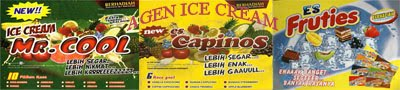 ICE CREAM MR COOL,FRUTIES,CAPINOS,TOKATOKA,DOREMI,CAMELO