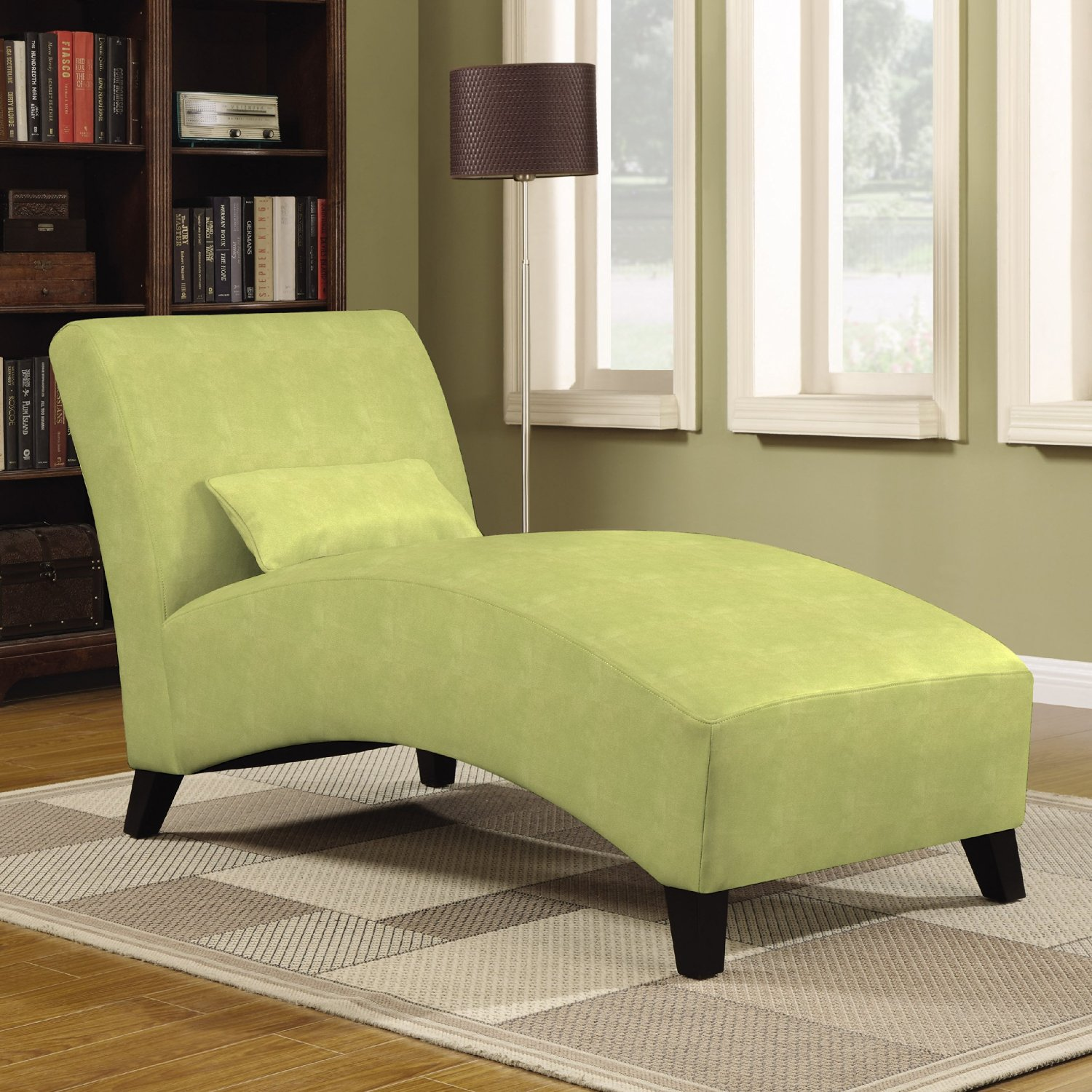 Upholstered chaise lounges for bedrooms for Small bedroom chaise lounge chairs