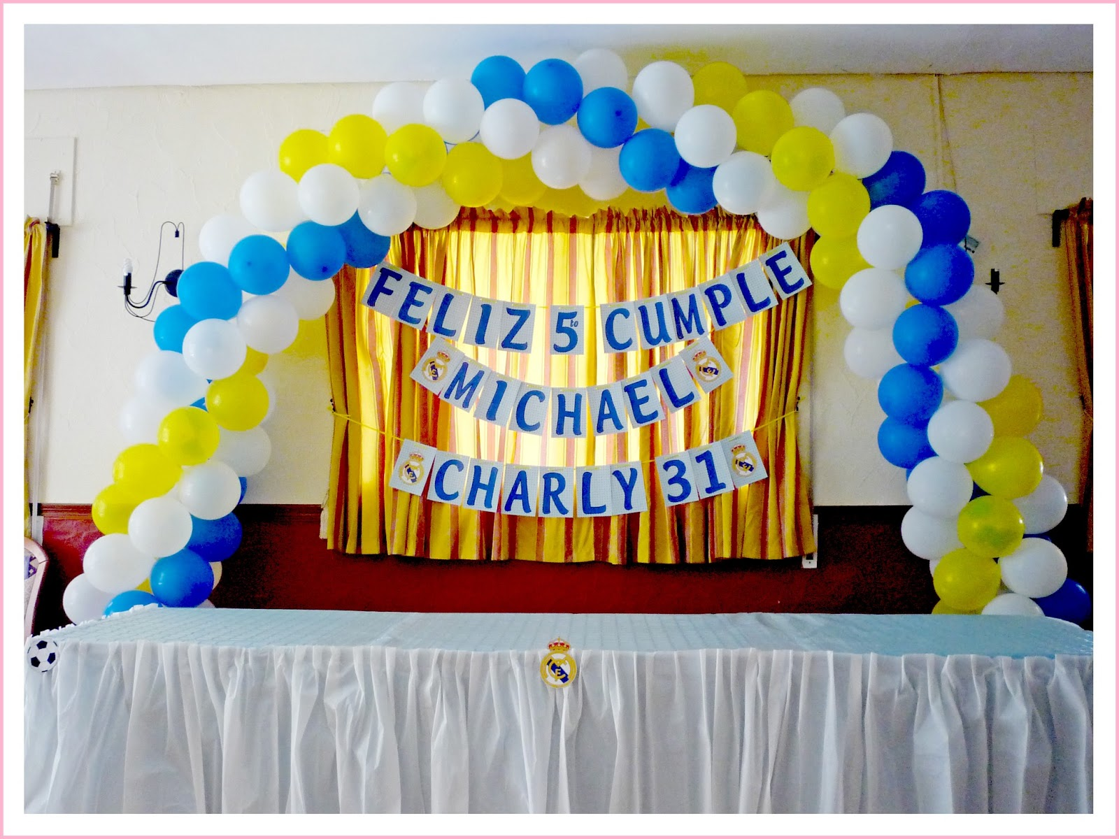 Baby nina fiestas fiesta real madrid para michael for Decoracion en madrid