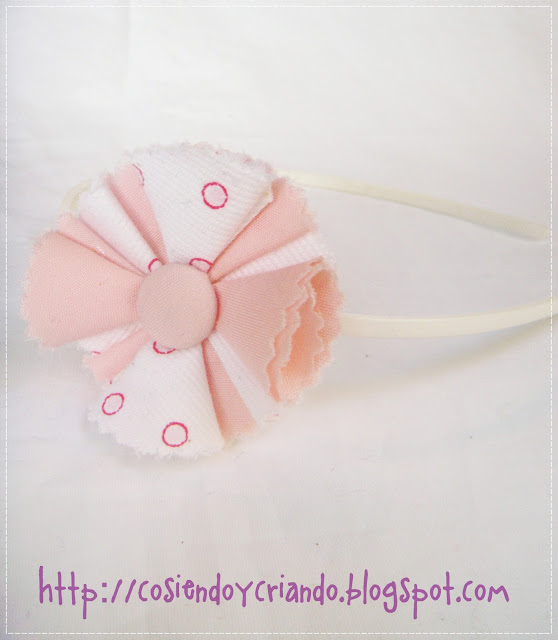 pink and white headband