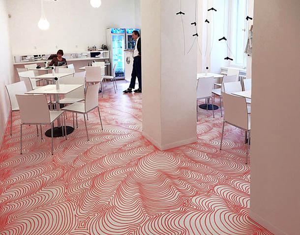 instalações feitas com marcadores permanentes - Heike Weber