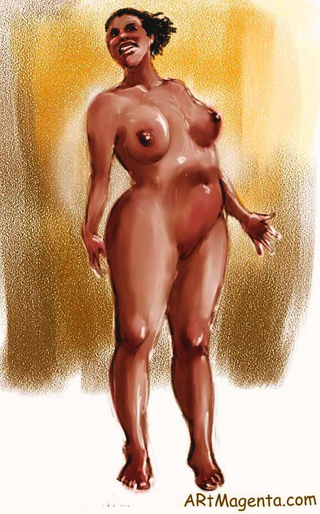 Nelly is selling her body. Life drawing by ArtMagenta