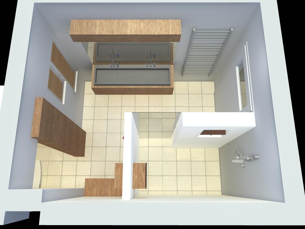 Arnoud herberts interieurarchitect badkamer ontwerpen in 3d voor klant in bussum - Badkamer ontwerp ...