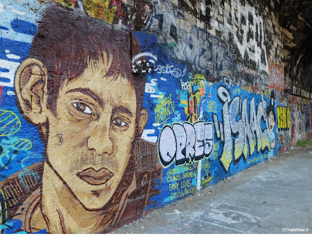 street art portrait gare de saint-ouen à Paris petite couronne
