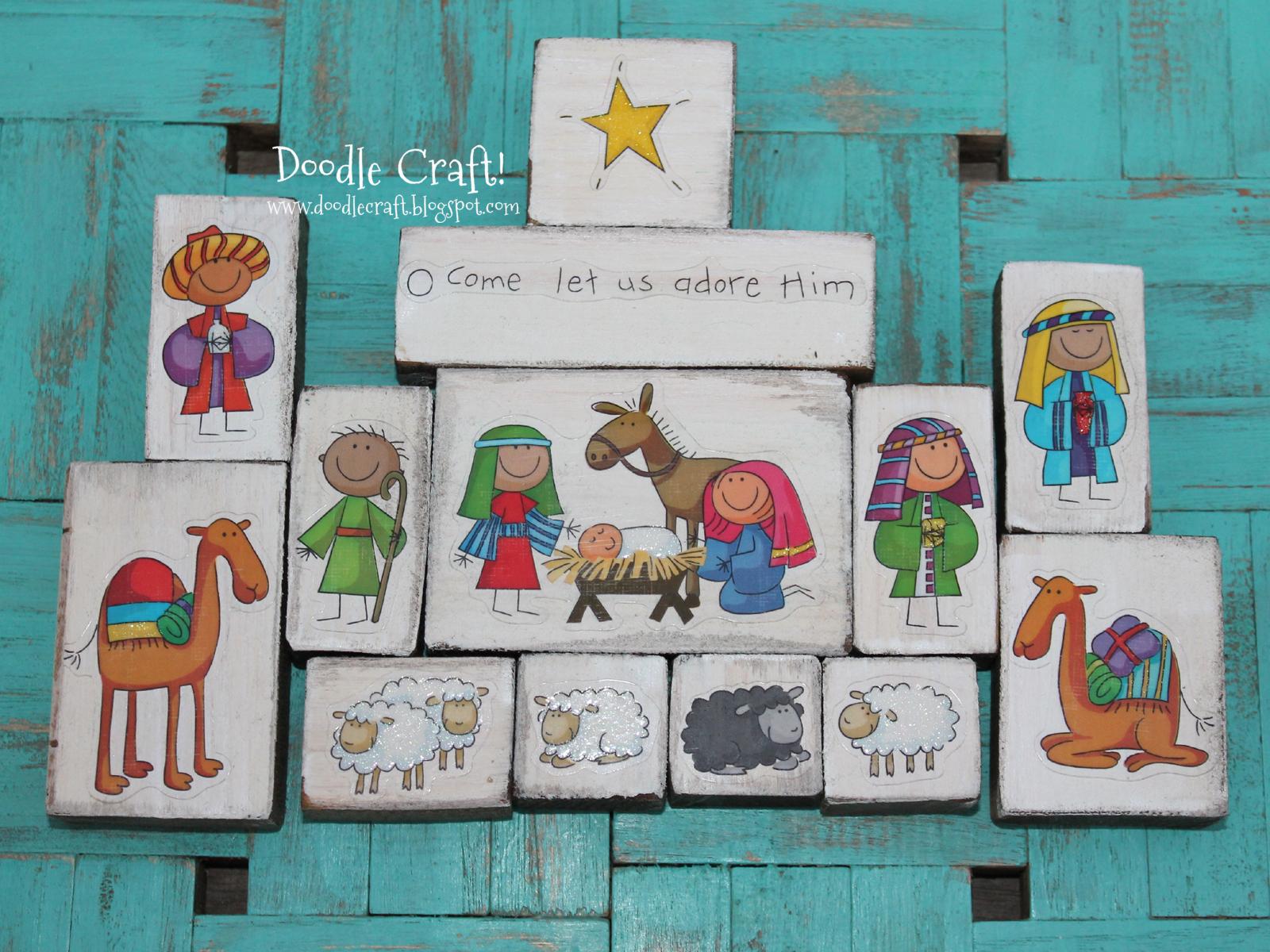 Blocks Of Wood Craft Jesus
