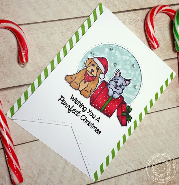 Sunny Studio Stamps Santa's Helpers Puppy Dog Christmas Card by Heidi Criswell.