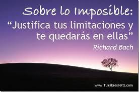 Sobre tus limitaciones