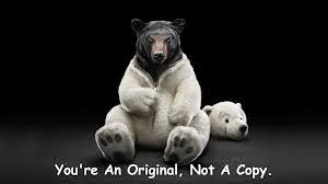 don't try to copy people and be yourself