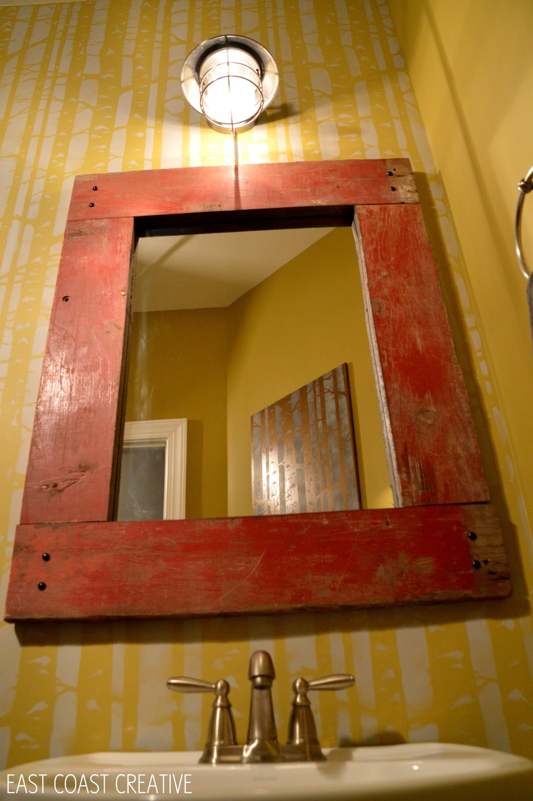 Barnwood Framed Bathroom Mirrors how to make a wood framed mirror - east coast creative blog
