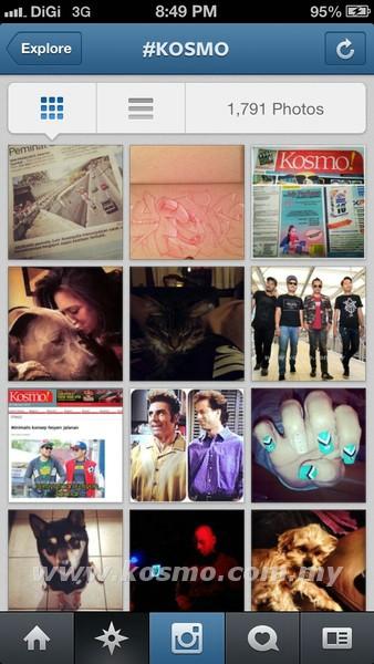 PENGARUH hashtag juga boleh dilihat dalam laman perkongsian gambar, Instagram.