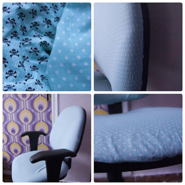 Cambiar la funda de una silla de oficina. Lavar una silla de oficina.
