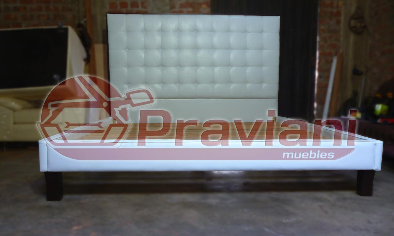 Praviani: Cama tapizada en piel sintetica