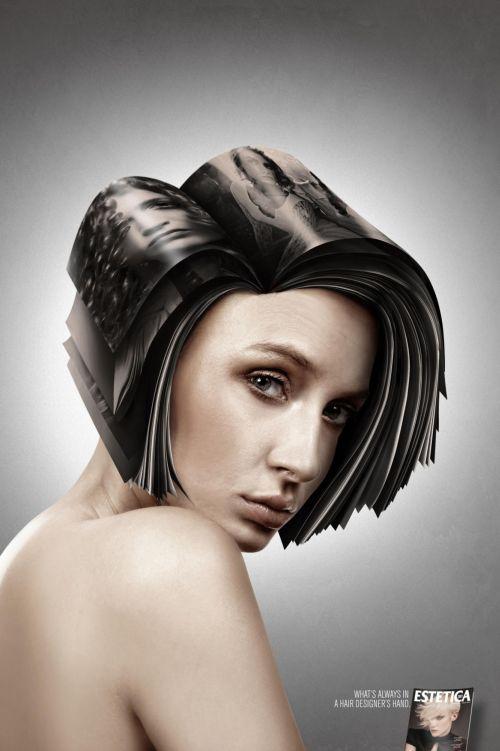 revista estetica cabelos mulheres propaganda