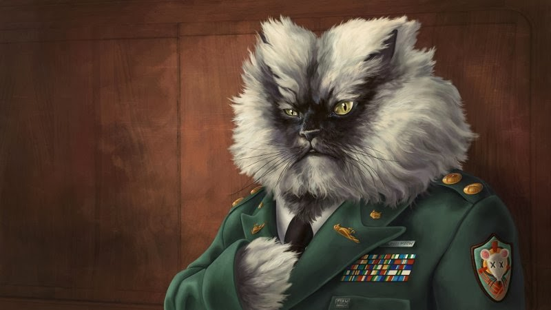 colonel meow painting