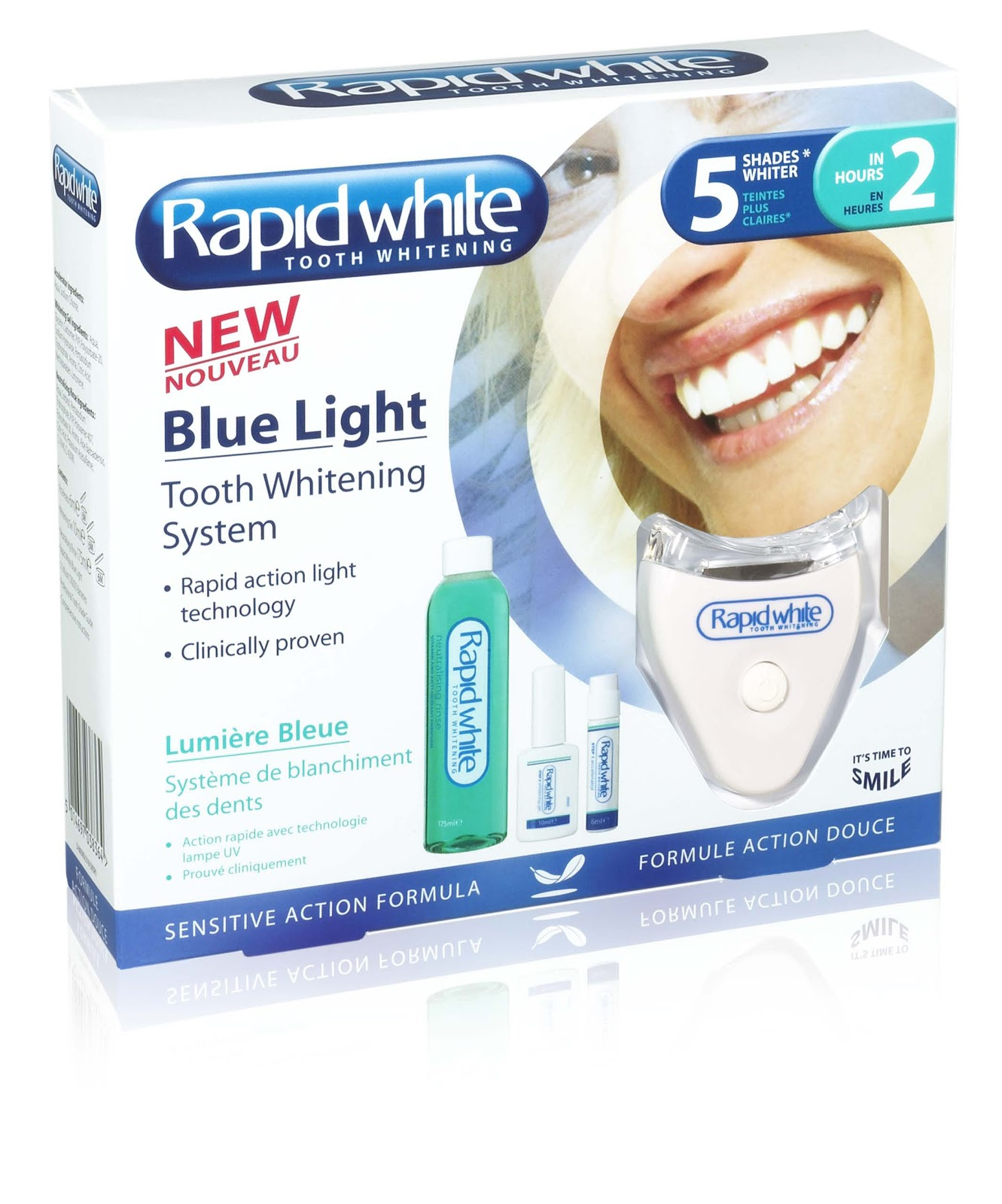 rapid white blue light tooth whitening system. Black Bedroom Furniture Sets. Home Design Ideas