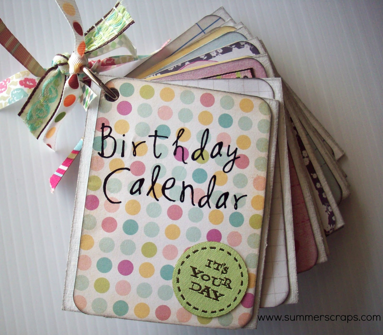 Calendar Kit Ideas : Birthday calendar mini book with project life th frolic