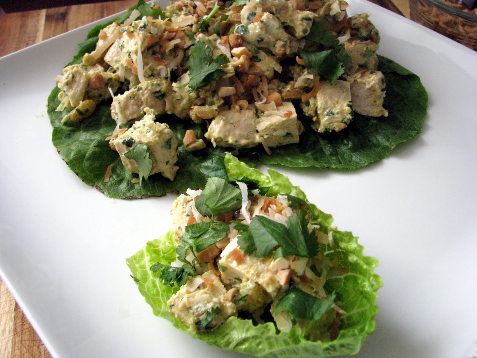 Mia Cucina: Curried Chicken Salad Lettuce Wraps
