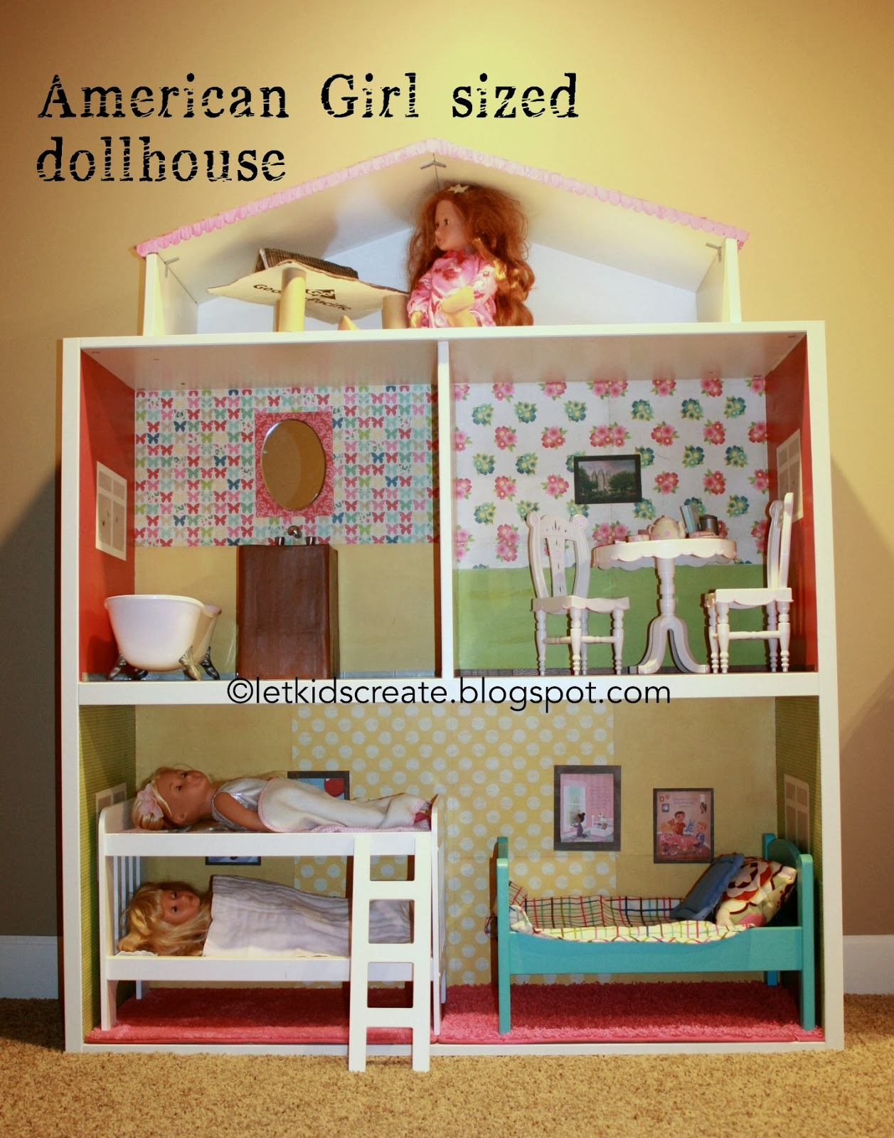 American Girl Dollhouse {Ikea Hack}