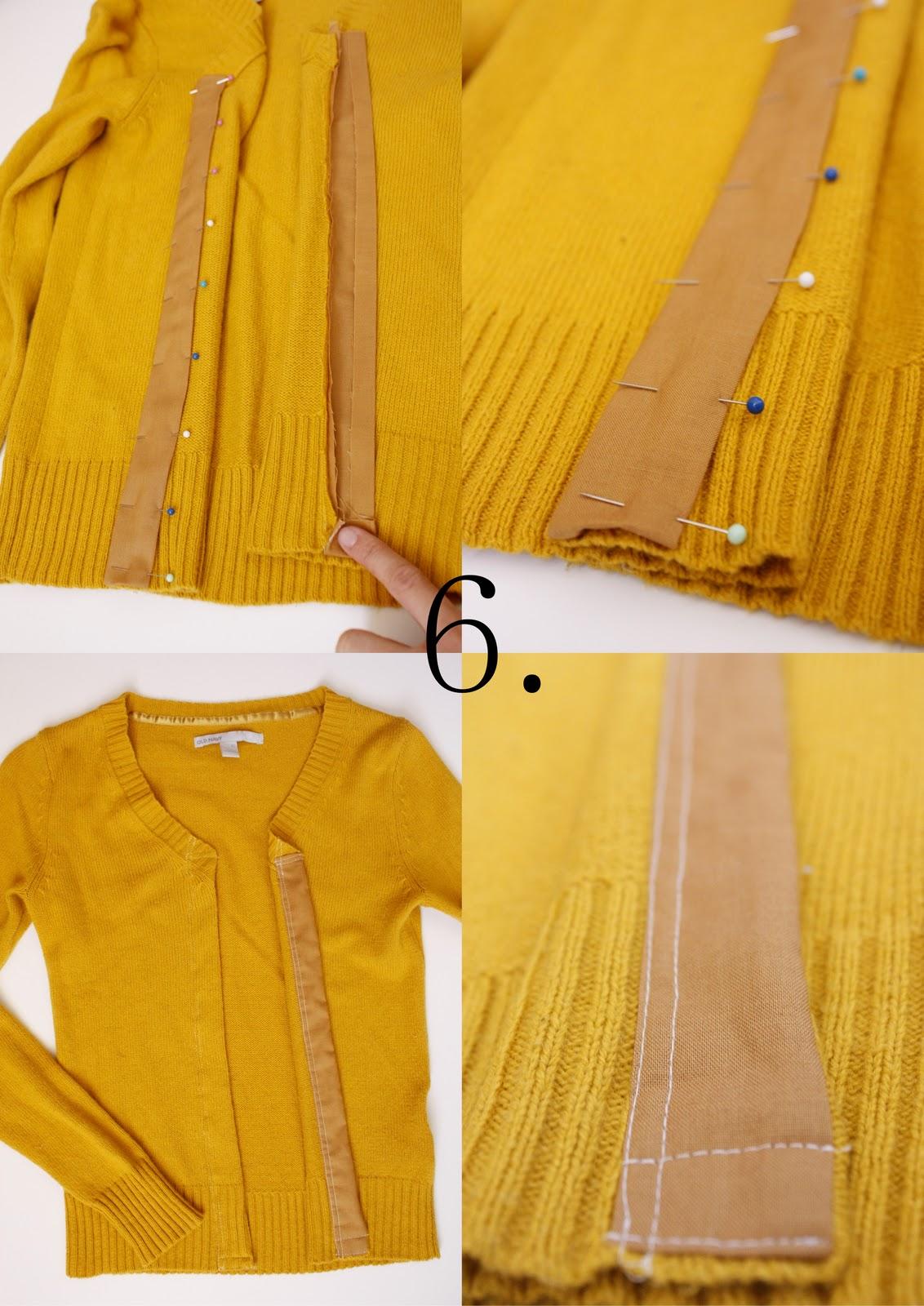 Как сделать из старого свитера кардиганы