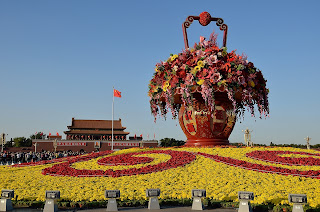 Flower display for National Day 2012 in Tian'anmen Square