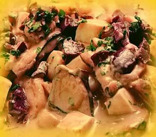 Pulpo al olivar con salsa blanca