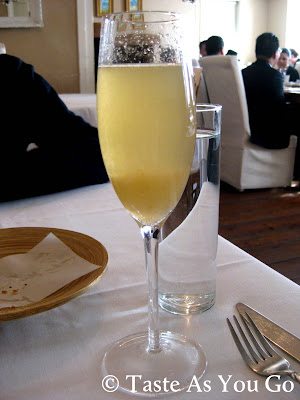Pear Bellini at Bolete Restaurant and Inn in Bethlehem, PA - Photo by Michelle Judd of Taste As You Go