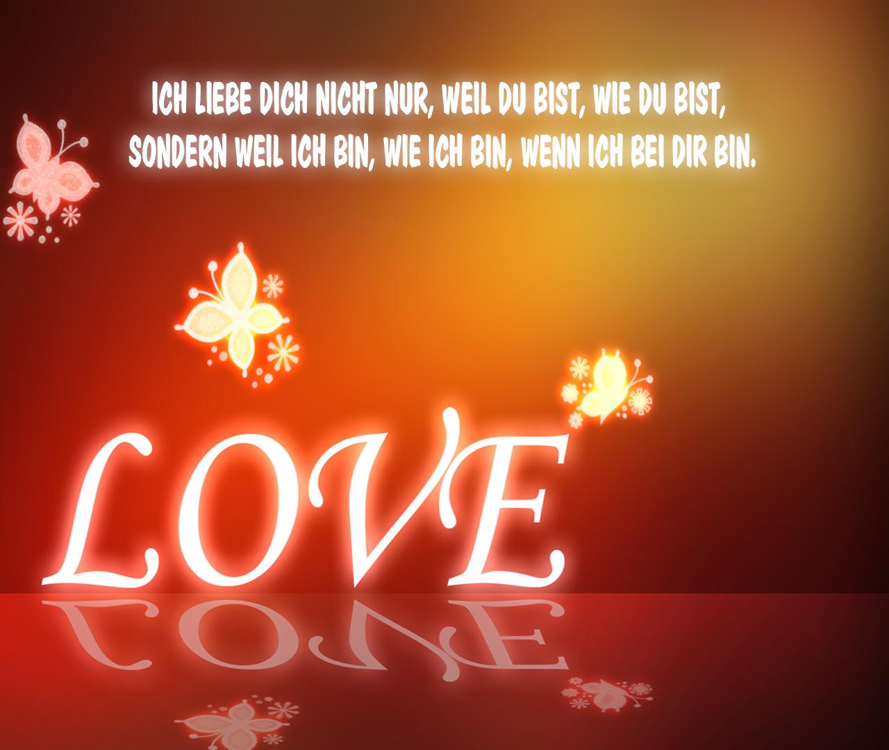 Liebesbilder und Liebessprüche: Liebesgedichte - Bilder