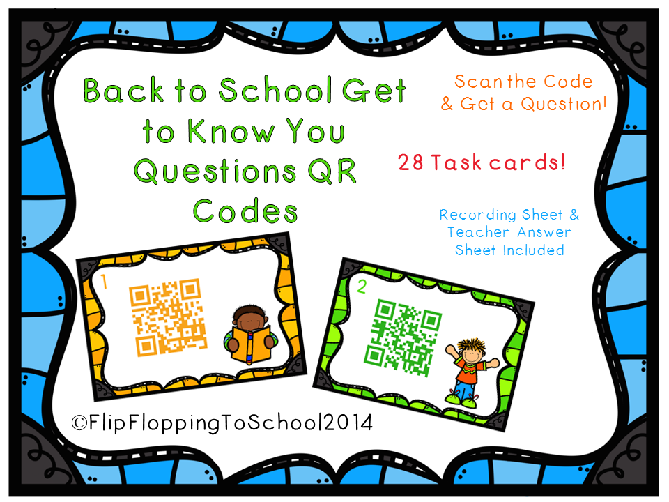 http://www.teacherspayteachers.com/Product/Back-to-School-Get-to-Know-You-Questions-Task-Cards-with-QR-Codes-1359601