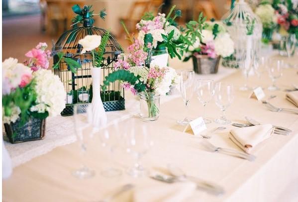 Gloss and mum 3 3 id es de d co table et g teaux et loisirs cr atifs - Plan de table cage oiseau ...