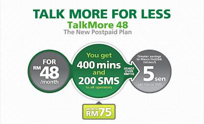 Plan Maxis Baru Untuk PostPaid Talkmore 48 The New Postpaid Plan